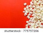 Tasty Salted Popcorn Isolated...