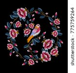 embroidery for fashion | Shutterstock .eps vector #775759264