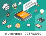 digital marketing and seo... | Shutterstock .eps vector #775763080