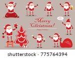 collection santa claus for... | Shutterstock . vector #775764394