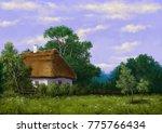 rural landscape paintings ...   Shutterstock . vector #775766434