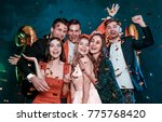 super party with best friends.... | Shutterstock . vector #775768420