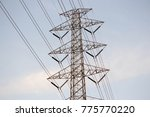 electrical grid transmission...   Shutterstock . vector #775770220