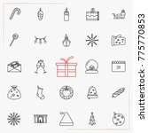 set of vector thin line icons... | Shutterstock .eps vector #775770853