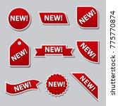 new flat banners | Shutterstock . vector #775770874