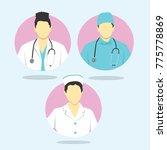 doctor and nurse icon vector...   Shutterstock .eps vector #775778869