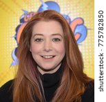 Small photo of Dortmund, Germany - December 9th 2017: US Actress Alyson Hannigan (* 1974, Buffy The Vampire Slayer, Angel, How I Met Your Mother, American Pie) at German Comic Con Dortmund.