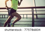 young fitness sporty woman... | Shutterstock . vector #775786834