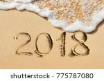 new year concept   2018... | Shutterstock . vector #775787080