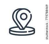 3d pin icon. isolated locate...