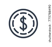 dollar icon. isolated cash and...