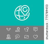 editable icons set with...