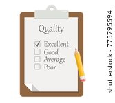 quality check clipboard flat...   Shutterstock .eps vector #775795594