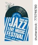 vector poster for a jazz...   Shutterstock .eps vector #775798780