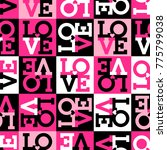 seamless pattern of word  love  ... | Shutterstock .eps vector #775799038