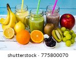smoothies and fruits | Shutterstock . vector #775800070