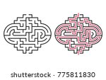 abstract maze   labyrinth with... | Shutterstock .eps vector #775811830
