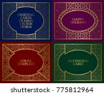 golden patterned frames set.... | Shutterstock .eps vector #775812964
