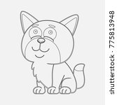 outline cat cartoon coloring... | Shutterstock .eps vector #775813948