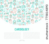 cardiology concept with thin... | Shutterstock .eps vector #775814890