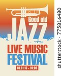 vector poster for a jazz... | Shutterstock .eps vector #775816480