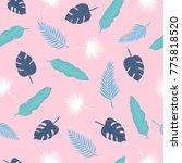 tropical leaves seamless... | Shutterstock .eps vector #775818520