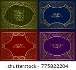 golden patterned frames set.... | Shutterstock .eps vector #775822204