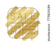 luxury sale banner design. gold ... | Shutterstock .eps vector #775824184