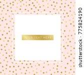 stylish glamour banner design....   Shutterstock .eps vector #775824190