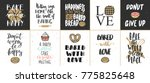 set of vector bakery lettering... | Shutterstock .eps vector #775825648