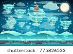 chinese winter pagoda on a... | Shutterstock .eps vector #775826533