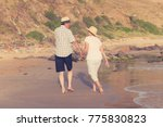 lovely senior mature couple on... | Shutterstock . vector #775830823
