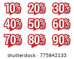 sale and discount labels. price ... | Shutterstock .eps vector #775842133
