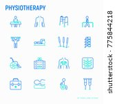 physiotherapy thin line icons... | Shutterstock .eps vector #775844218