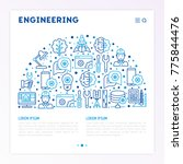 engineering concept in half... | Shutterstock .eps vector #775844476