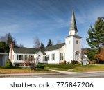 christian church in a small... | Shutterstock . vector #775847206