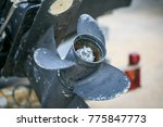 blue and broken boat engine   Shutterstock . vector #775847773