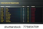 terrorism threat at airport ... | Shutterstock . vector #775854709