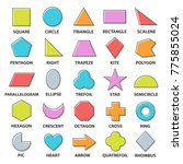 basic shapes set. geometric... | Shutterstock .eps vector #775855024