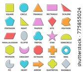 Basic Shapes Set. Geometric...