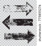 grunge arrow stamps set vector... | Shutterstock .eps vector #775855276