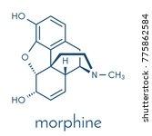 Morphine Pain Drug Molecule....