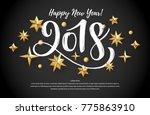 2018 hand written lettering... | Shutterstock .eps vector #775863910
