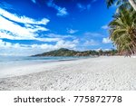 beautiful tropical landscape ... | Shutterstock . vector #775872778