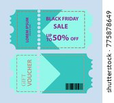 coupon sale vector design   Shutterstock .eps vector #775878649