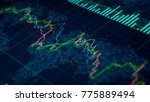 stock exchange statistics on... | Shutterstock . vector #775889494
