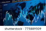trading binary option on screen ... | Shutterstock . vector #775889509