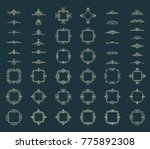 huge rosette wicker border... | Shutterstock . vector #775892308