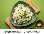 green peas basmati rice or... | Shutterstock . vector #775904950