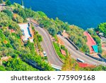 scenery with road and... | Shutterstock . vector #775909168